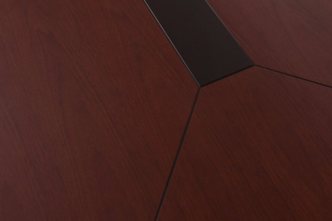 Masa conferinta ST D-1624, Nuc rosiatic, 240cm, Lemn + HDF